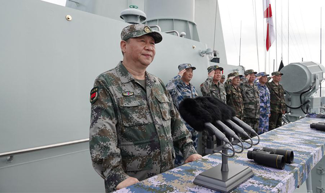 China Focus: President Xi reviews navy in South China Sea