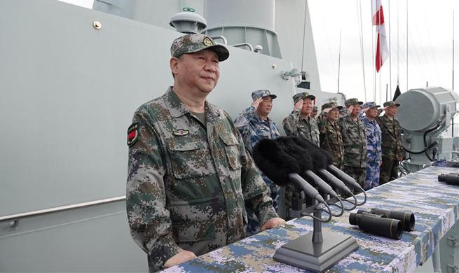China Focus: President Xi reviews navy in South China Sea