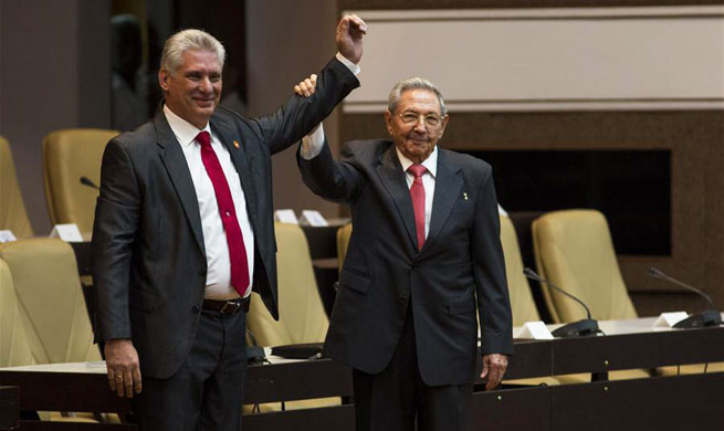 Miguel Diaz-Canel elected as Cuba's new president, vows continuity of socialism
