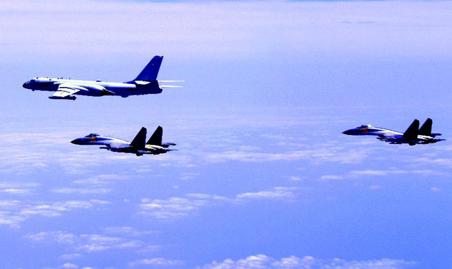 Chinese air force conducts island patrols: spokesperson