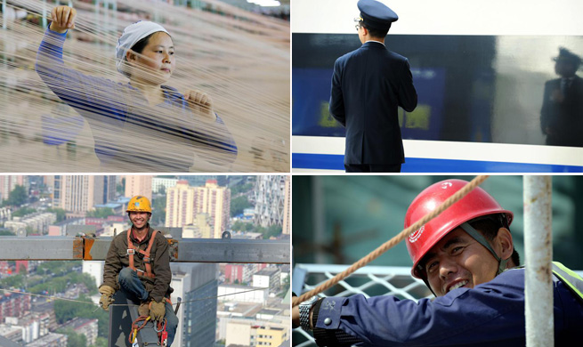 People stick to posts on Int'l Workers' Day across China