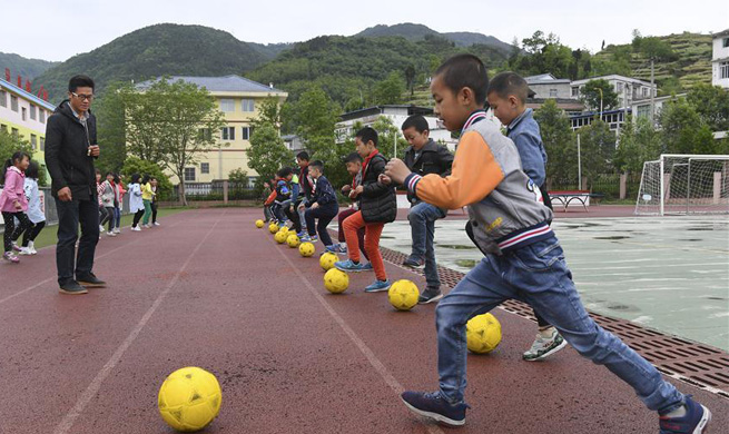 Malu Primary School reconstructed after 2008 earthquake in China's Sichuan
