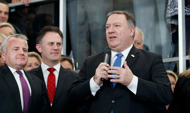 Pompeo speaks at Department of State in Washington D.C.