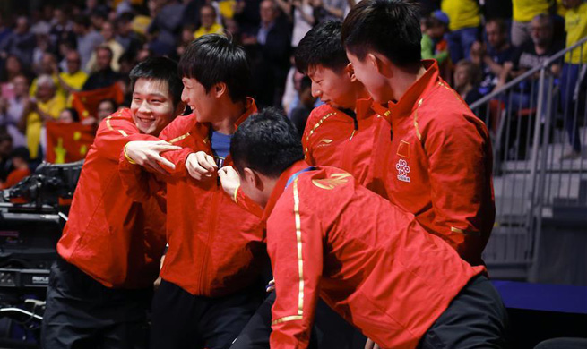 China advances into final to play either Germany or South Korea at table tennis team worlds