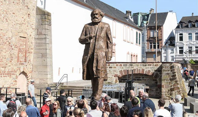 China-donated statue of Karl Marx unveiled in Germany's Trier