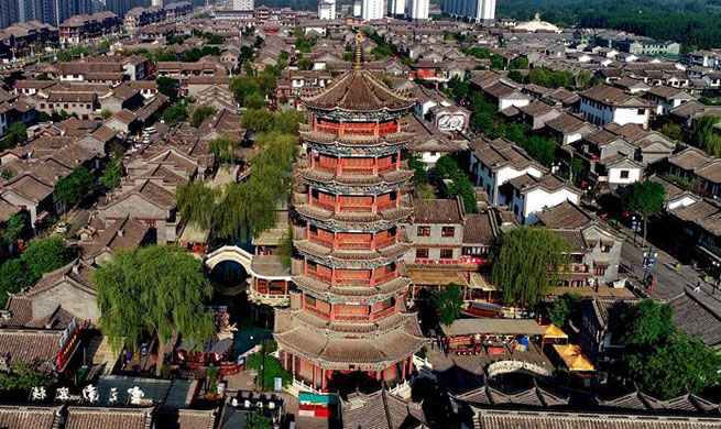 Scenery of ancient city of Luanzhou in China's Hebei