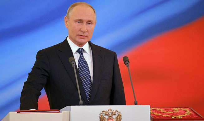 Putin sworn in for fourth term, underlines growth, technology development