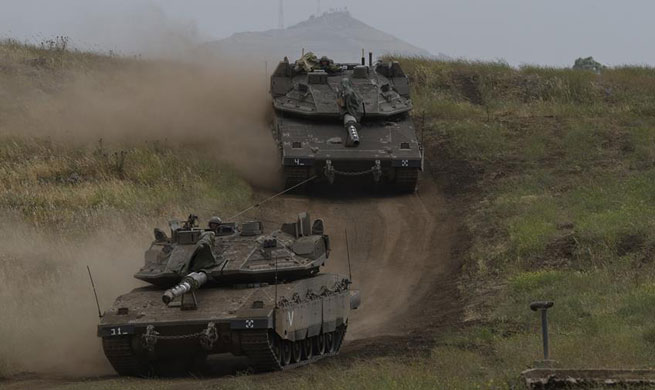 Military drill held in Israeli-annexed Golan Heights