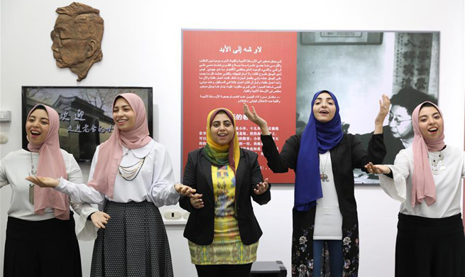Egyptian university holds first overseas Chinese Lao She exhibition