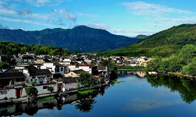 Aerial view of villages in east China's Anhui