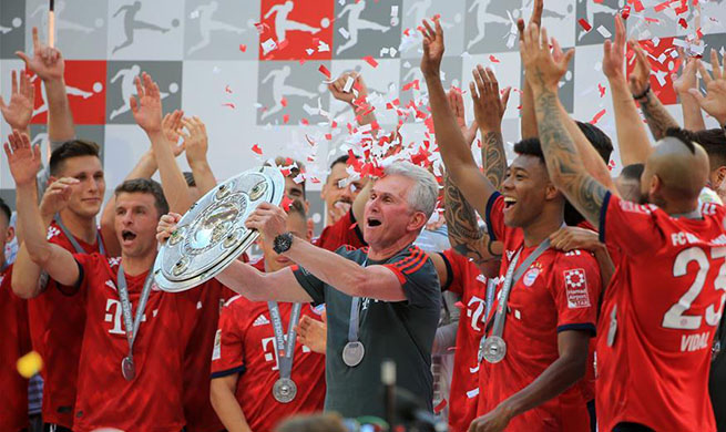 In pics: Bayern Munich celebrates Bundesliga title