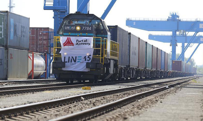 First Tangshan-Antwerp freight train arrives at Belgium