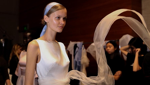 Creations of Leo&Lin presented at Mercedes-Benz Fashion Week Australia