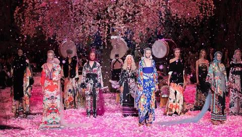 Creations of Camilla presented at Mercedes-Benz Fashion Week Australia
