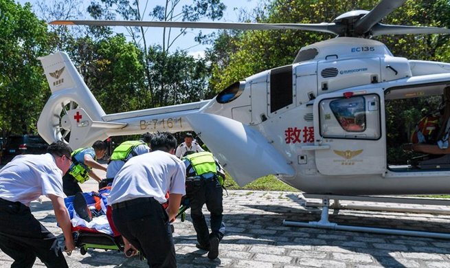 Air rescue drill held in Shenzhen, S China
