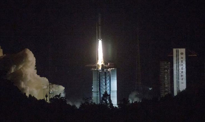 Xinhua Headlines: China launches relay satellite to explore Moon's far side