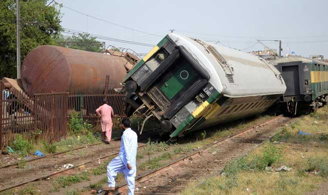 Two trains derailed after collision in Pakistan's Lahore