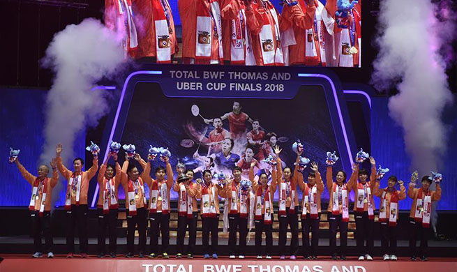 Team Japan beat team Thailand 3-0 at BWF Uber Cup 2018 final