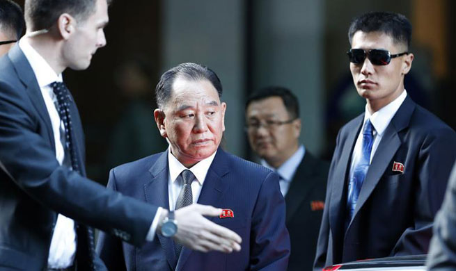 DPRK's Kim Yong-Chol arrives in U.S. to talk with Mike Pompeo