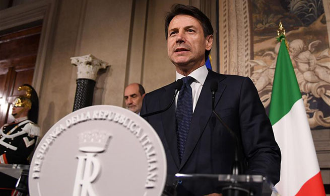 Italian president reappoints Giuseppe Conte as PM-designate to lead coalition gov't