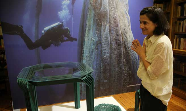 Feature: Ghost nets turned products raise awareness on marine pollution at Athens exhibition