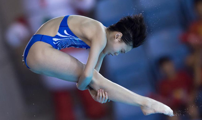 Zhang Jiaqi claims title of women's 10m platform at FINA Diving World Cup