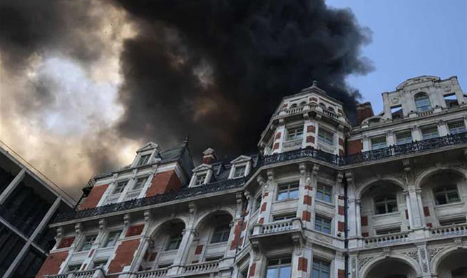 20 fire engines, 120 firefighters battling massive fire at London hotel