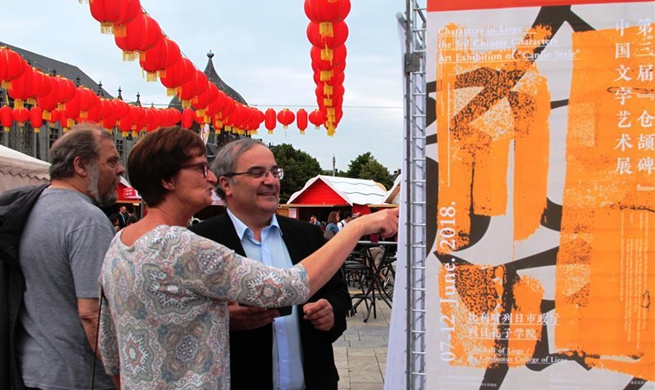 Chinatown fair held in Liege, Belgium