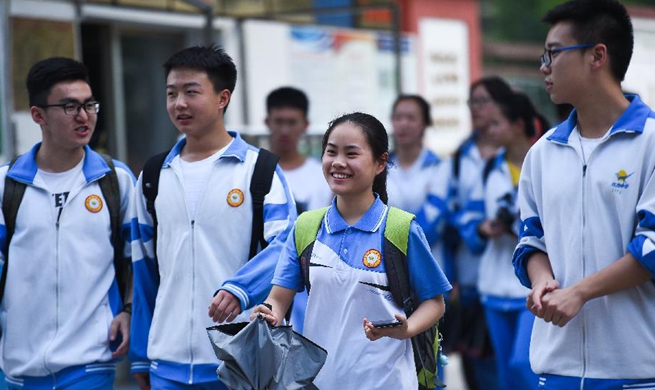 Gaokao ends in some places of China