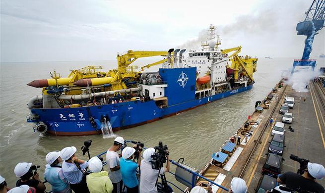 Asia's largest dredging vessel begins sea trial