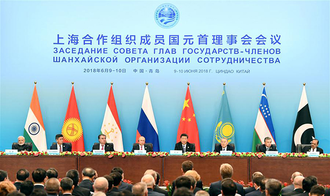 Xi, other SCO leaders meet press at Qingdao summit