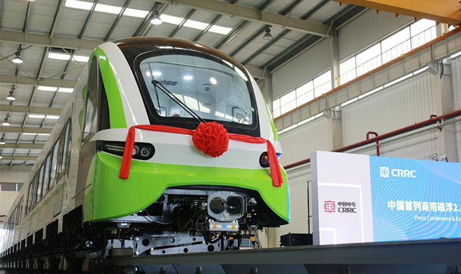 China's new maglev train rolls off production line