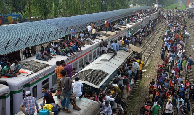 Millions in Bangladesh on the move as Eid exodus begins amid beefed up security