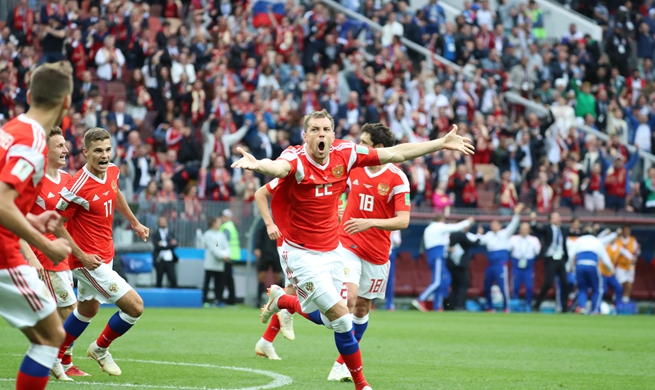 Cheryshev leads Russia to 5-0 rout of Saudi Arabia