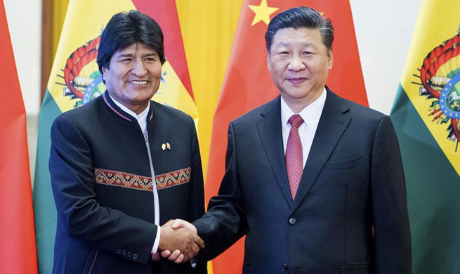 Xi, Morales hold talks, agree to establish China-Bolivia strategic partnership
