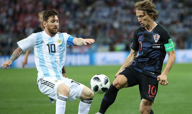 Croatia batters Messi's Argentina 3-0 to enter World Cup last 16