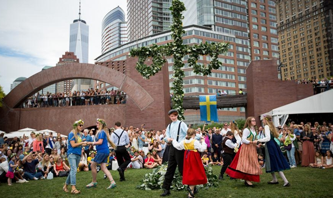 Annual Swedish Midsummer Festival celebrated in Manhattan, New York