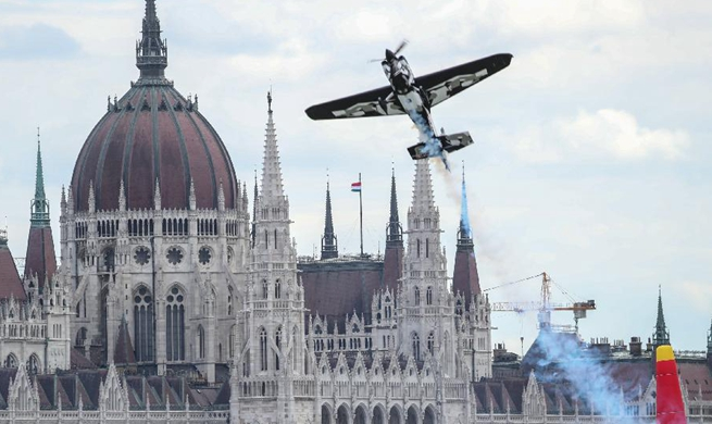 Red Bull Air Race World Championship held in Budapest, Hungary