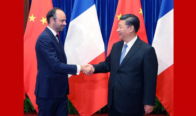 Xi Jinping meets French Prime Minister Edouard Philippe