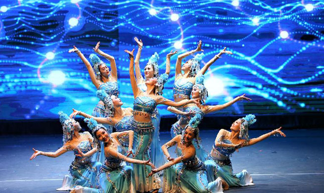Chinese dancers perform in Kuwait