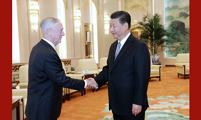 Xi meets with U.S. Secretary of Defense