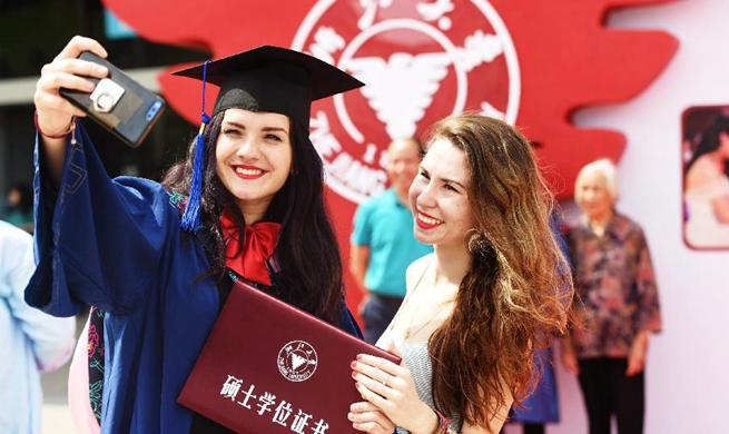 Students celebrate graduation at Zhejiang University
