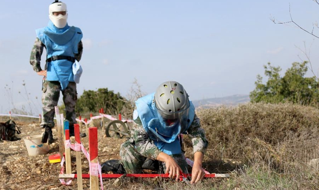 In pics: Chinese peacekeepers work in southern Lebanon