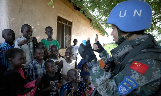 In pics: Chinese female peacekeepers in South Sudan