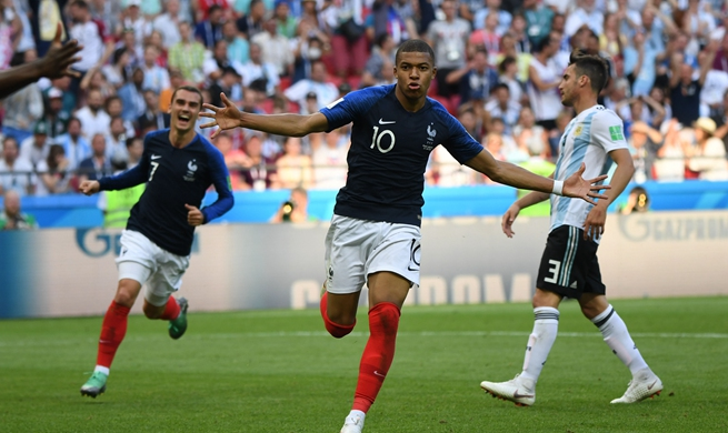 France send Argentina packing 4-3 at World Cup