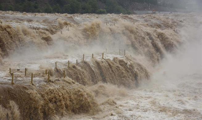 Yellow River's Hukou Waterfall enthralls tourists