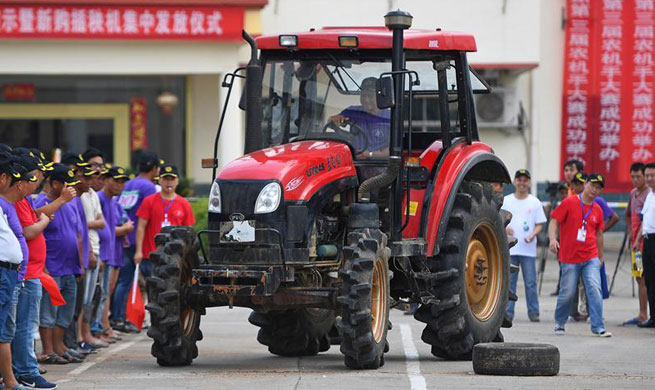 Agricultural machinery contest held in Fengxin, China's Jiangxi