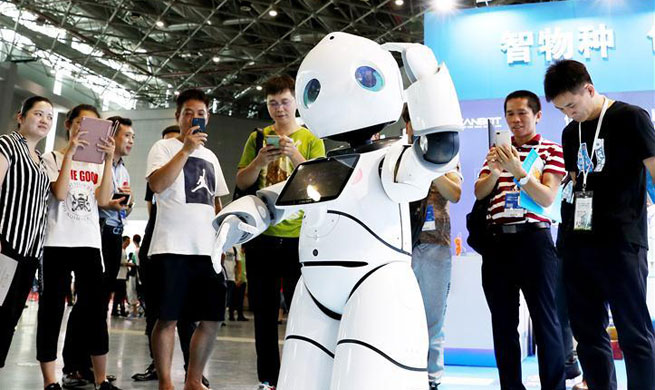 China Int'l Robot Show 2018 held in Shanghai