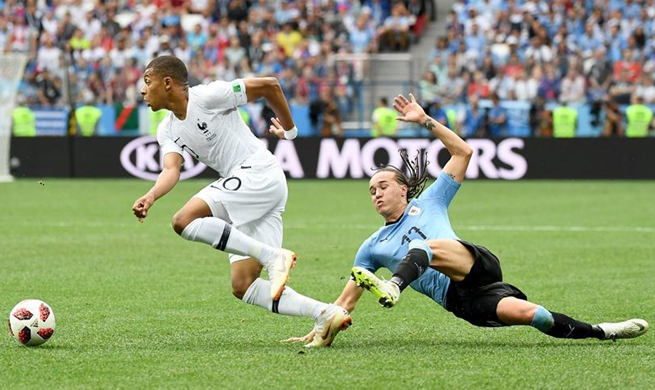 France beat Uruguay 2-0 to secure World Cup semifinal spot