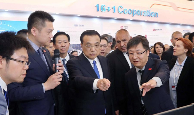 Chinese premier, CEEC leaders visit exhibition in Sofia, Bulgaria